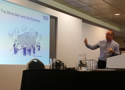 'Our very own Dr Rogers presented at a recent NHS England and NHS Improvement event